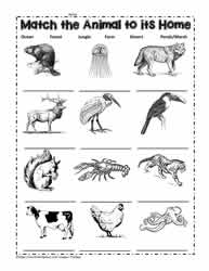 Printables Habitat Worksheets animal habitat worksheets where do the animals live