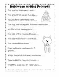 halloween worksheets halloween writing prompts