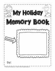 photograph relating to Memory Book Printable named Getaway Memory Reserve Worksheets