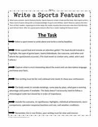 How to Write Sports News