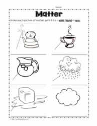 States of matter worksheets idenftify the state of matter ibookread