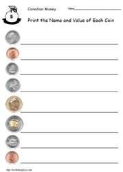 Name the Coins, Print the Value
