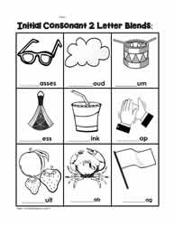 Printables Beginning Blends Worksheets initial consonant blendsworksheets phonics blends