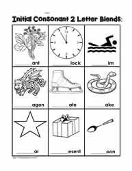 Phonics Initial Consonant Blends
