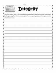 Integrity Worksheet