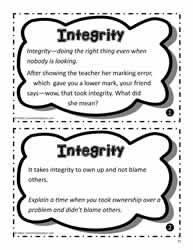 Integrity Task Cards