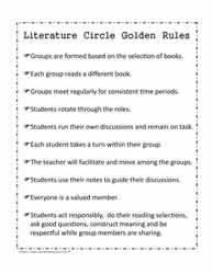 Literature Circle WorksheetsWorksheets