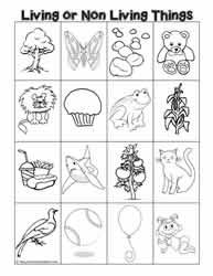 Printables Living Vs Nonliving Worksheet living and non things worksheetsworksheets or sort