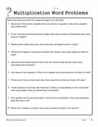 1 Digit Basic Word Problems