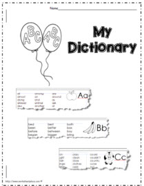 2nd Grade Dictionary (26 letter booklet)