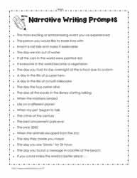 Writing Topics, Story Prompts, Writing PromptsWorksheets