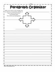 Paragraph Writing Worksheets