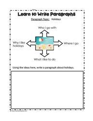 Graphic Organizer to Write a Paragraph