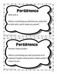 Persistence Task Cards