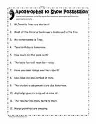Apostrophe Worksheets