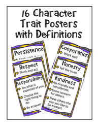 16 Character Trait Posters