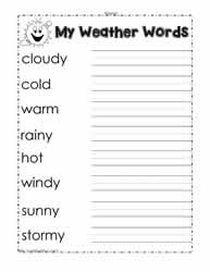 Worksheet Science Weather Worksheets weather worksheetsworksheets words worksheet