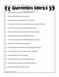 Printables Quotation Marks Worksheets quotation marks worksheetsworksheets mark worksheet