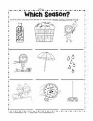 Seasons and Days Worksheets Worksheets