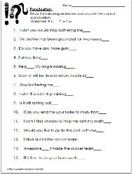 Punctuation Marks Worksheets High School | Homeshealth.info