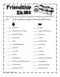 Worksheets Social Skills Worksheet social skillsworksheets friendship skills printable