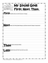 Printables Social Skills Worksheet social skillsworksheets first next then goal