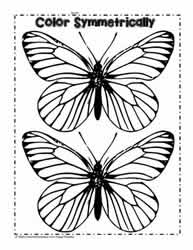 Symmetrical Butterflies to Color
