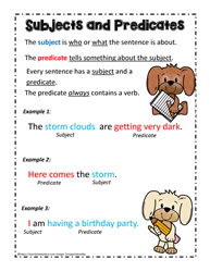 What are Subjects and Predicates?