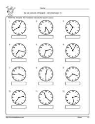 Printables Time To The Minute Worksheets telling time to the nearest minuteworksheets worksheet 5