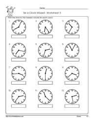 Reading An Analog Clock Worksheet