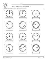 Telling Time Worksheet 6