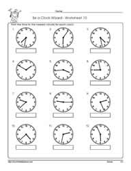 Printables Time To The Minute Worksheets telling time to the nearest minuteworksheets worksheet 10