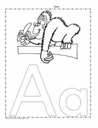 The Letter A Coloring Page