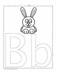 The Letter B Coloring Page