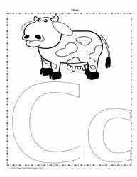 The Letter C Coloring Page