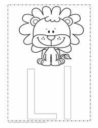 The Letter L Coloring Page