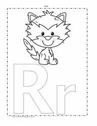 The Letter R Coloring Page
