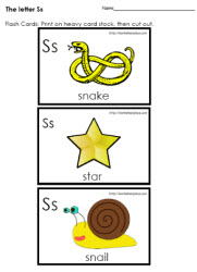 The Letter S Flashcards
