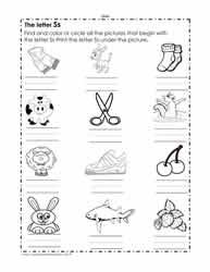 The Letter S Worksheets