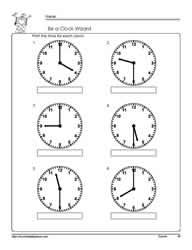 Printables Telling Time To The Hour And Half Hour Worksheets tellling time half hourworksheets telling hour worksheet 1