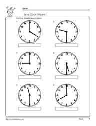 tellling time half hour worksheets. Black Bedroom Furniture Sets. Home Design Ideas
