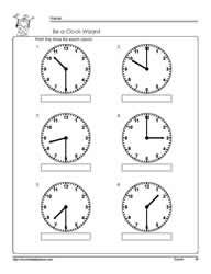 Printables Time To The Half Hour Worksheets tellling time half hourworksheets telling hour worksheet 5