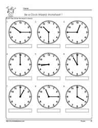 Telling Time Worksheets from The Teacher&#39s Guide