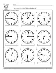 Telling-Time-to-The Quarter-Worksheet-4