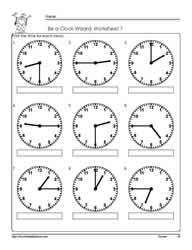 telling time to the quarter worksheet 7 - Time Worksheet
