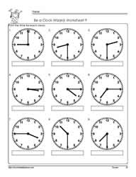 Telling-Time-to-The Quarter-Worksheet-9