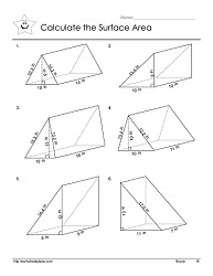 triangular prisms worksheets. Black Bedroom Furniture Sets. Home Design Ideas