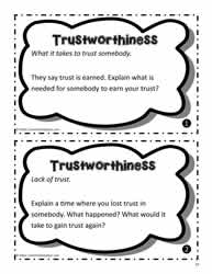 Trustworthiness Task Cards