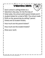 Valentine School Play Math Problem