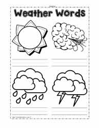Weather Pictures to Label